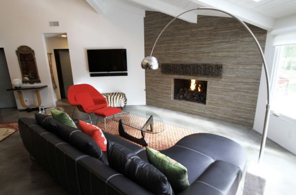 Modern living room combines the Arco with Noguchi table!