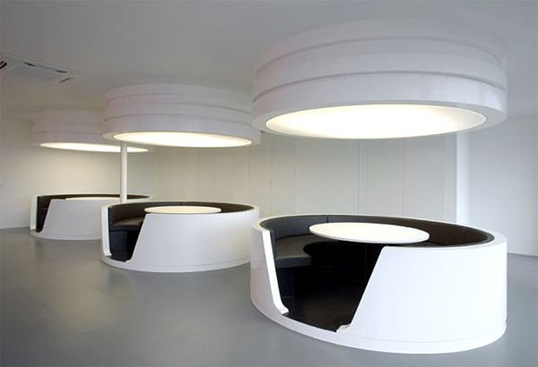 Modern oval cubicles
