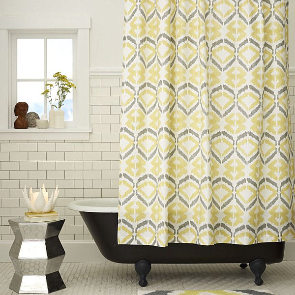 Beautiful View In Gallery Modern Printed Shower Curtain