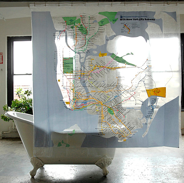 View In Gallery New York City Subway Map Shower Curtain