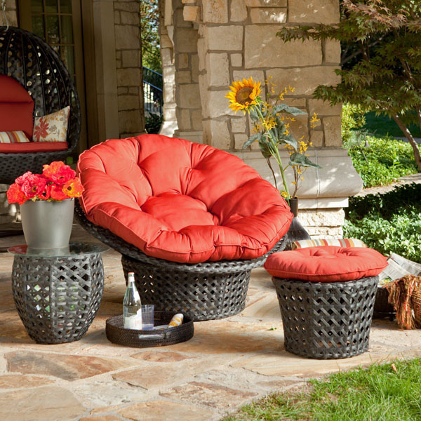 comfortable-red-papasan-chair-with-ottoman-and-red-