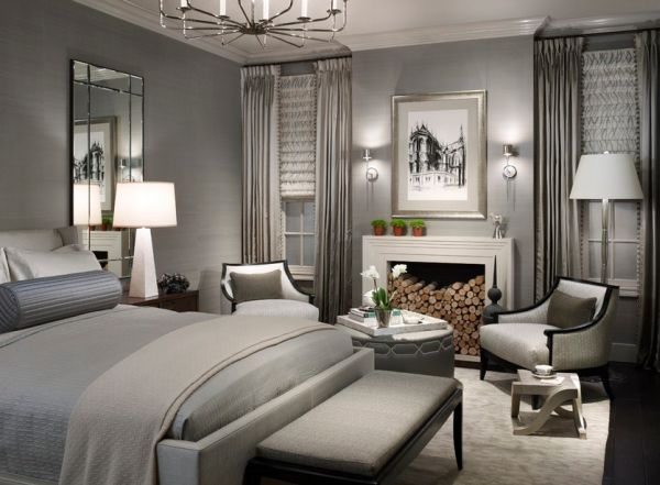 Picture perfect bedroom in gray combines contemporary style with understated elegance