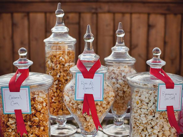 Popcorn bar for summer fun