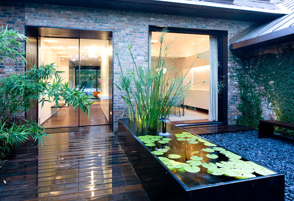 Garden ponds design ideas inspiration for Contemporary koi pond design