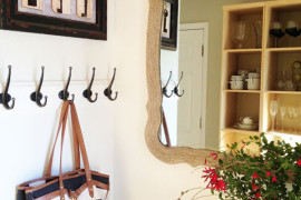 Rope covered DIY mirror frame