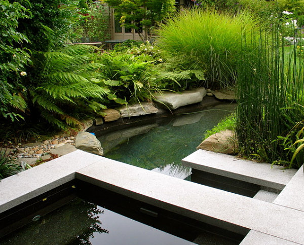 Garden ponds design ideas inspiration for Modern garden pond designs