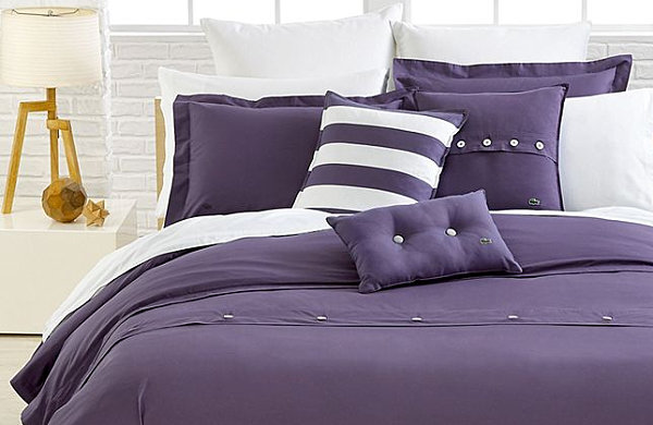 Solid purple bedding