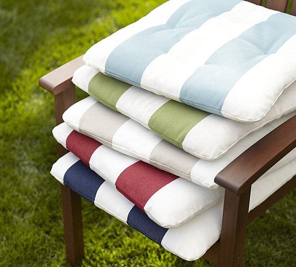 Striped chair cushions