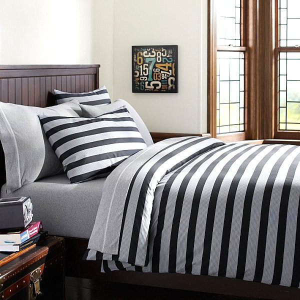 Striped twin duvet cover