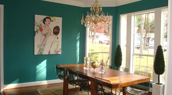 Teal dining room Small Renovations: Easy Updates for Your Home