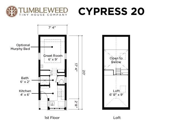 Tumbleweed Cypress 20 tiny house