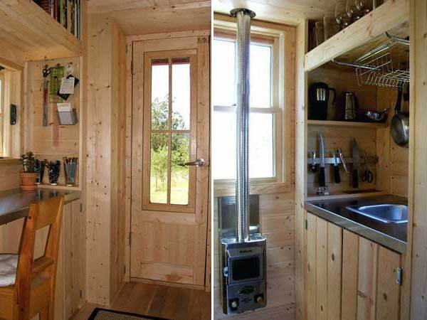 the compact style of tiny tumbleweed homes - Tumbleweed Tiny House Interior