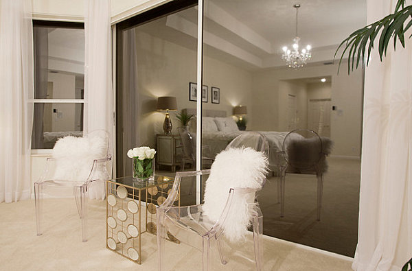 Unusual details in a sophisticated bedroom