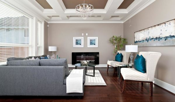 Wall art can help highlight the obvious turquoise accents further