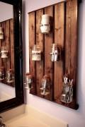 Wood palette mason jar organizer