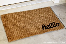 DIY Welcome Mats for an Inviting Home Entrance