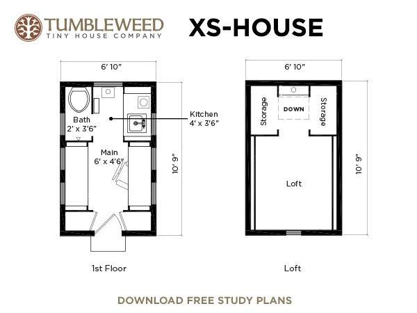 Xs house plans decoist for Tumbleweed floor plans