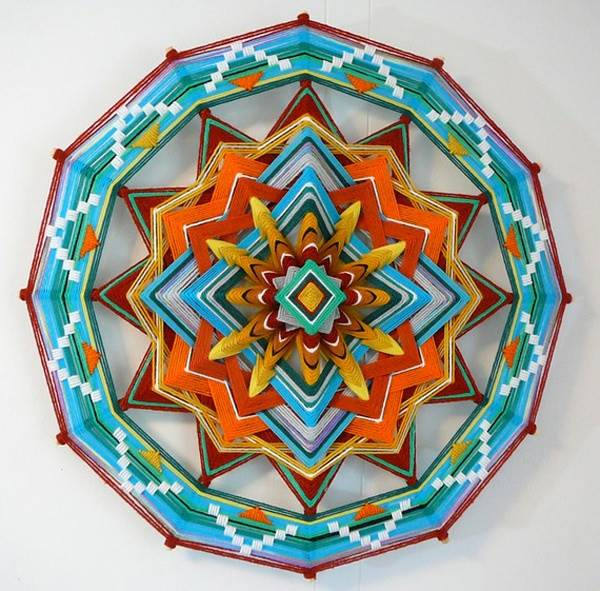 Yarn art mandala