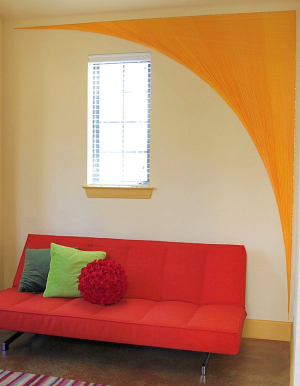 String wall art arch