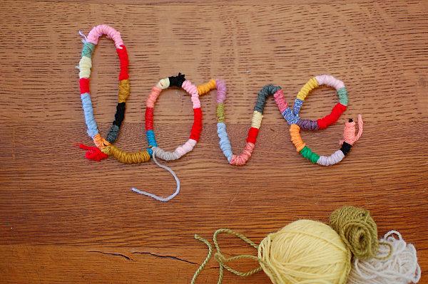 Yarn word DIY