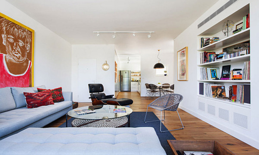Modern Bachelor Pad In Tel Aviv Employs Neutral Tones With Sparkling Brilliance!