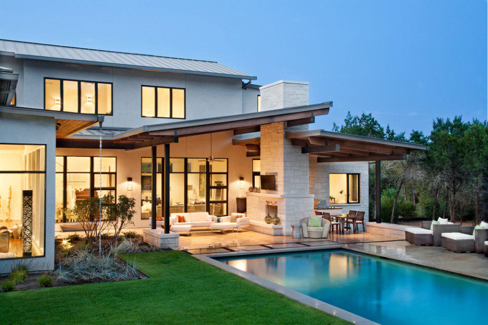 Bright and beautiful blanco house promises luxury with for Beautiful contemporary house designs
