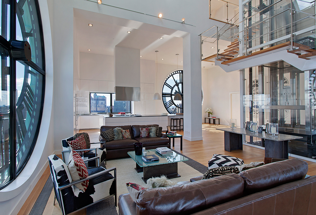 Clock tower penthouse in brooklyn stuns with timeless for Home carpet one chicago