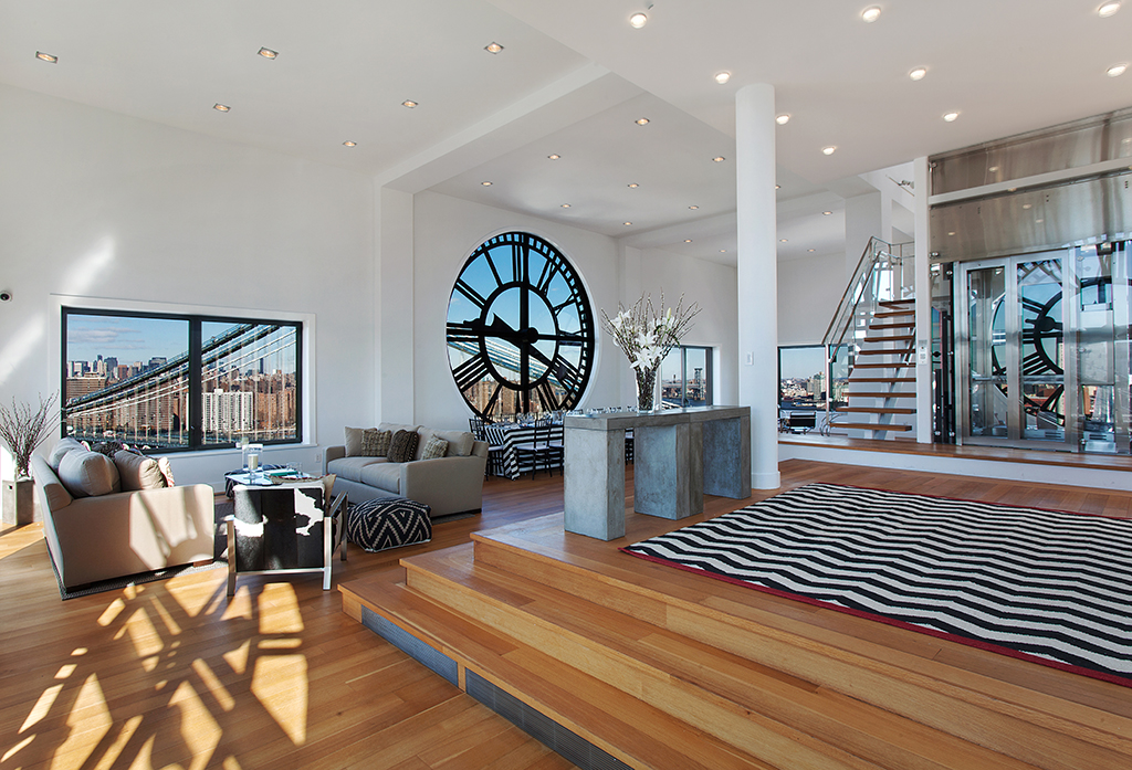 clock tower penthouse Clock Tower Penthouse in Brooklyn Stuns With Timeless Views Of NYC Skyline