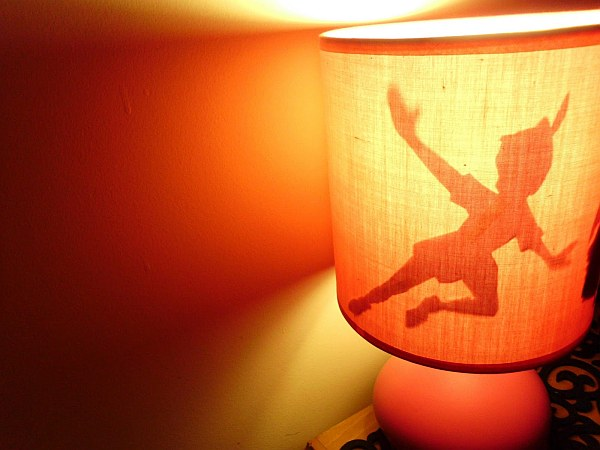 diy peter pan lampshade shadow
