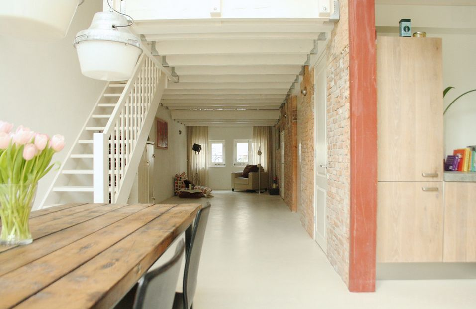 View In Gallery Exposed Brick Wall Hallway