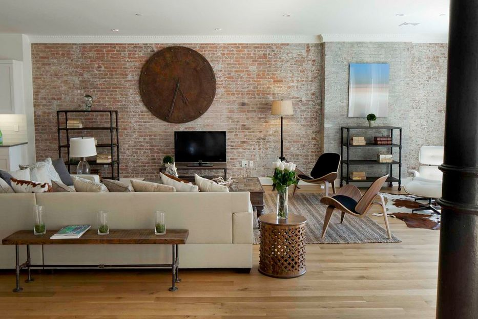 living room with brick wallpaper exposed brick walls or bad experiences 22953