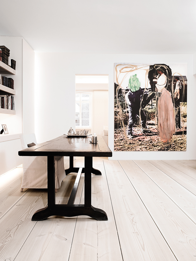 fancy Danish home with Dinesen wood