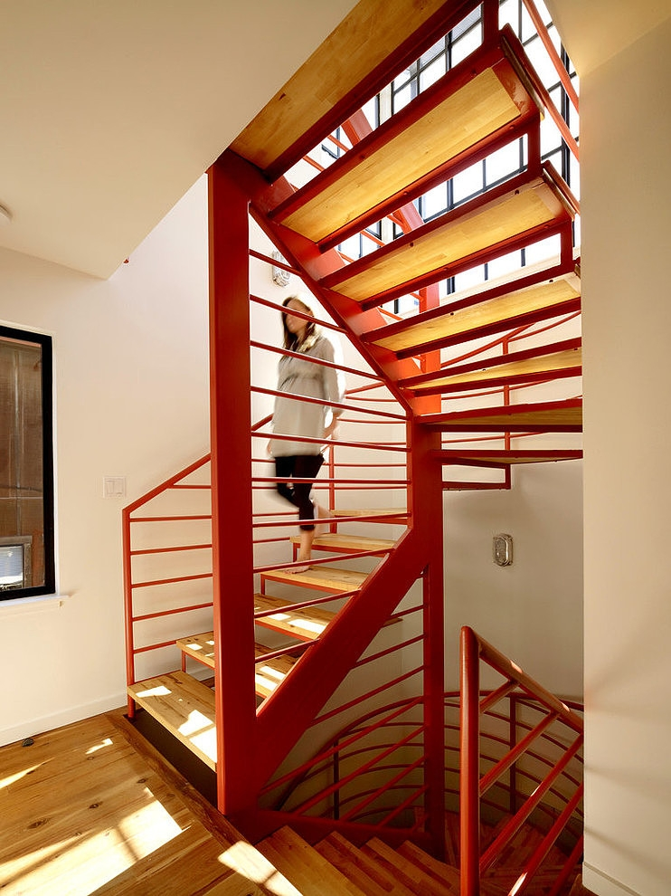 floating house - staircase