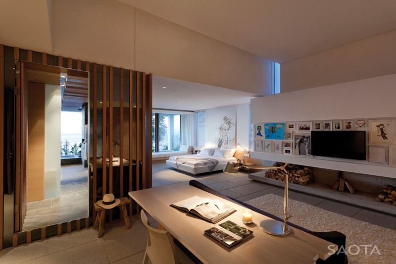 luxury bedroom with modern interior design