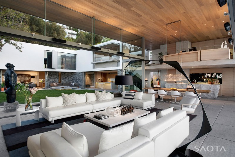 luxury open space living room