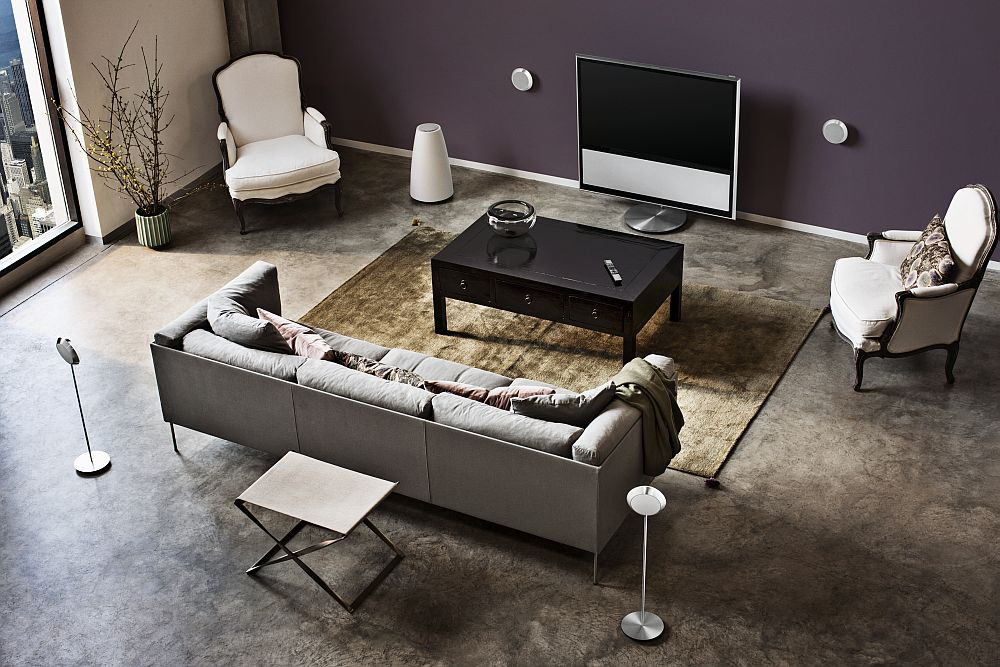 modern living room - bang & olufsen