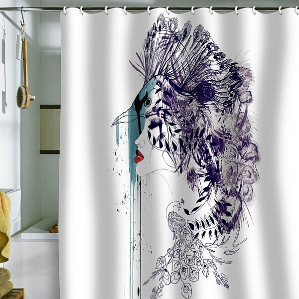 modern shower curtains Refreshing Shower Curtain Designs for the ...