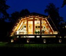 night view - self-sustainable home