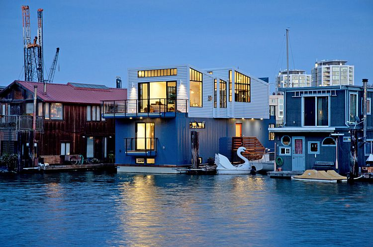 Modern floating house in san francisco leaves you speechless for Modern homes san francisco