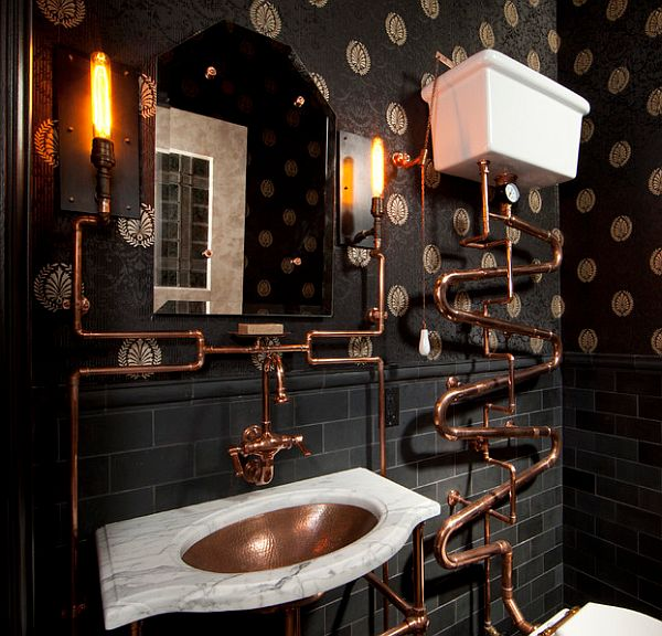view in gallery steampunk bathroom - Steampunk Interior Design Ideas