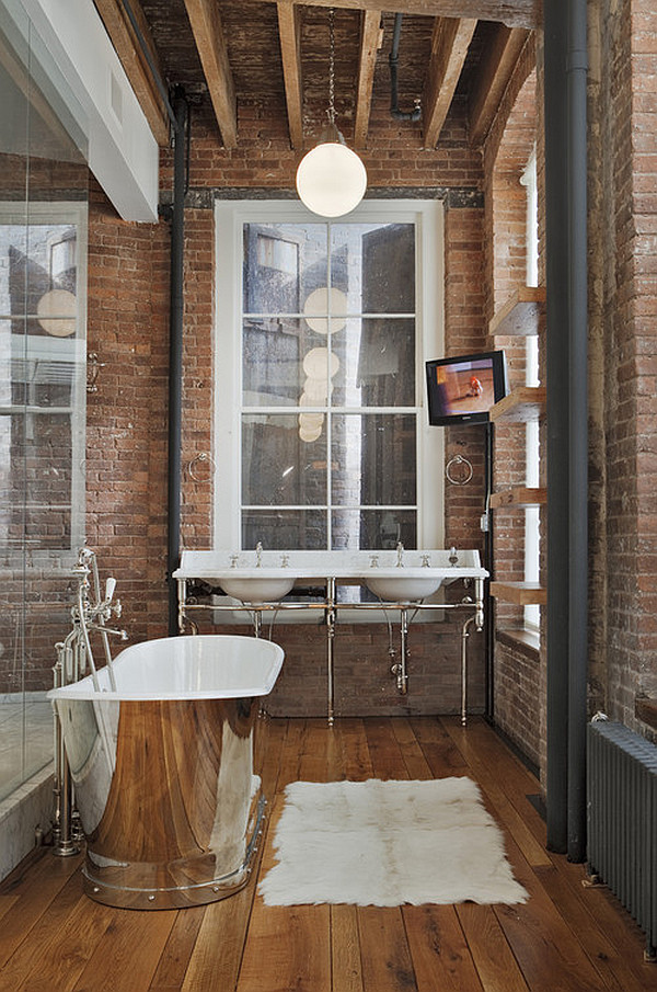 steampunk modern bathroom