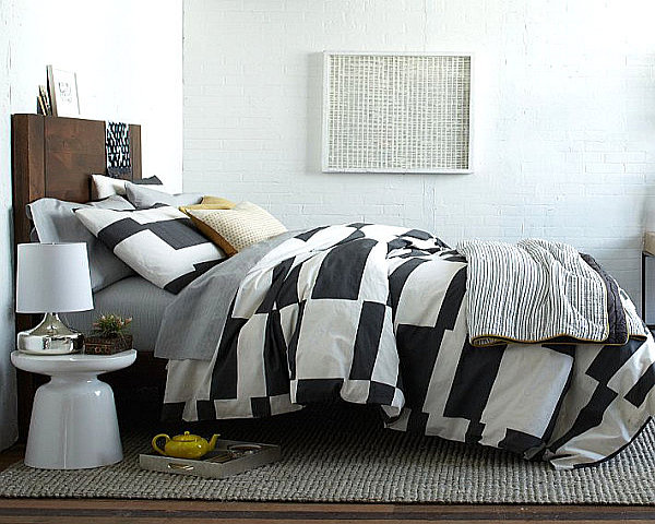 stripped bedding