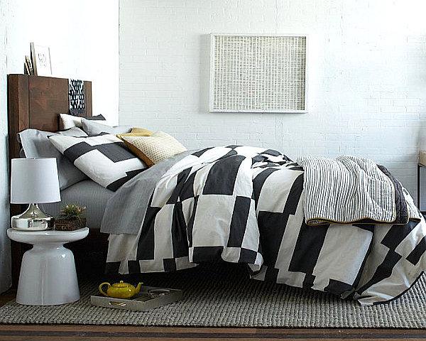 stripped bedding