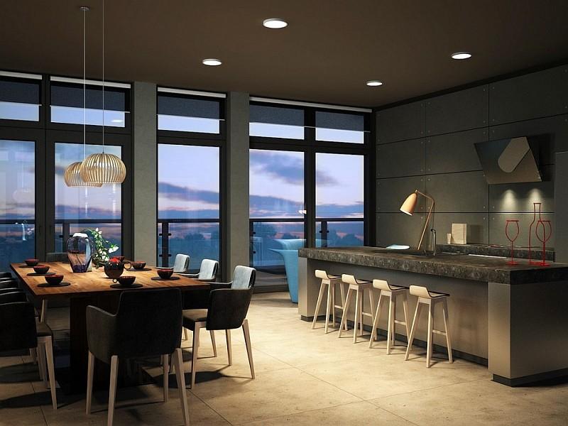 stylish roof apartment