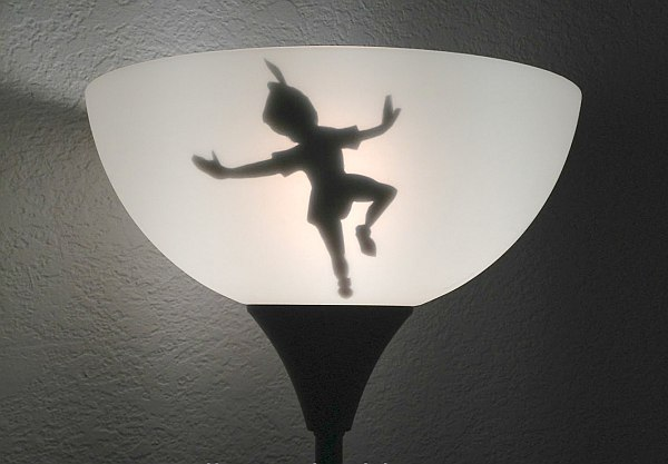 tinkerbell lampshade shadow