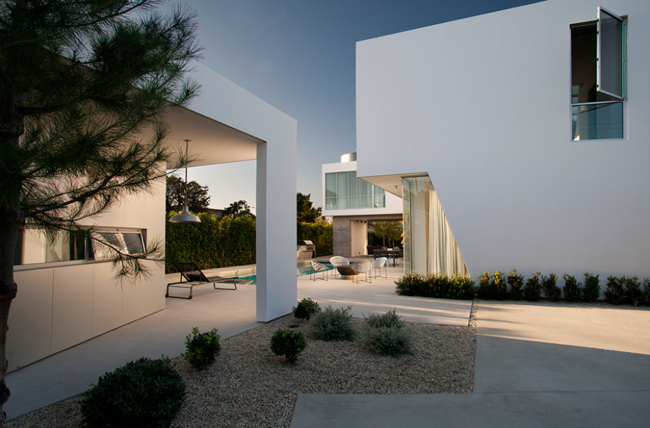 white stucco villa