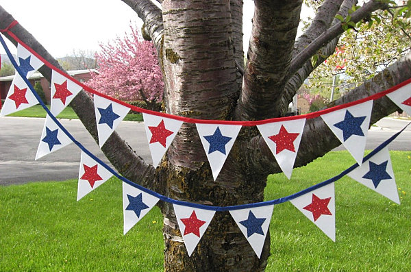 4th of July pennant banner