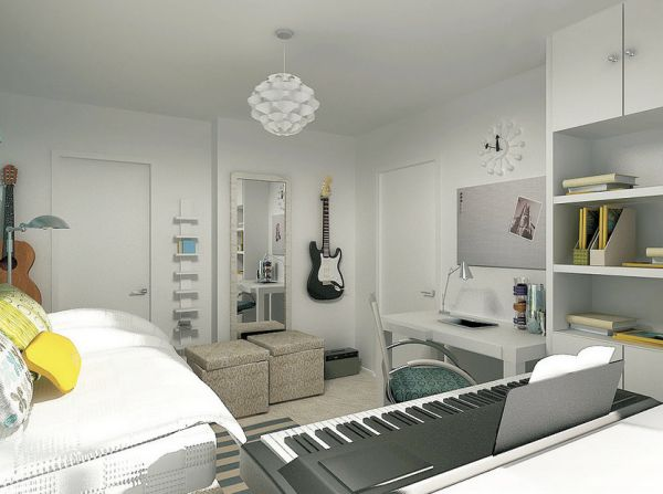 Modern bedroom that is all about hitting the right note!