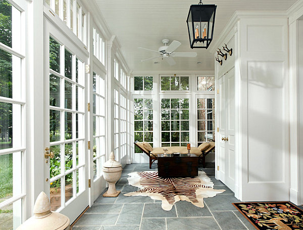 A sunroom for lounging