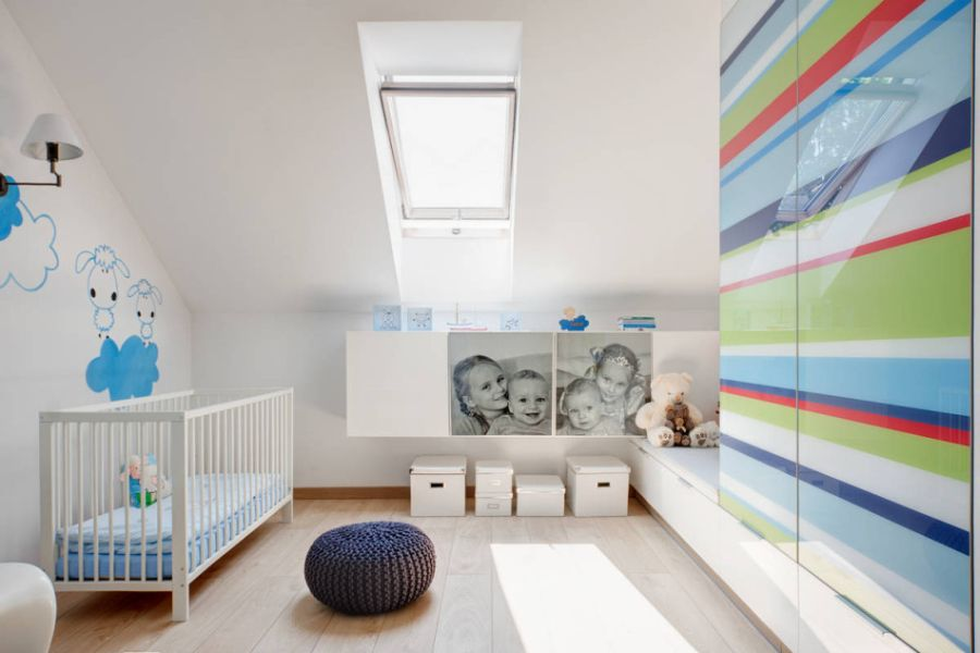 Beautiful nursery in the contemporary home